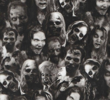 Water transfer printing starter kit Walking Zombies included 2x1 metre Foil
