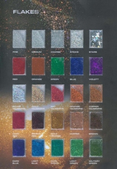 50g metal flakes - choose your colour