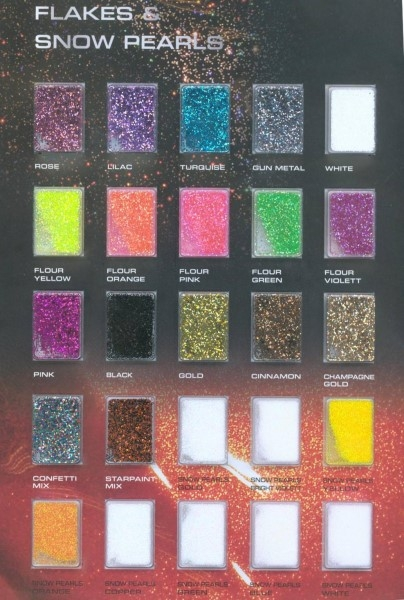 50g metal flakes - choose your colour - Kopie