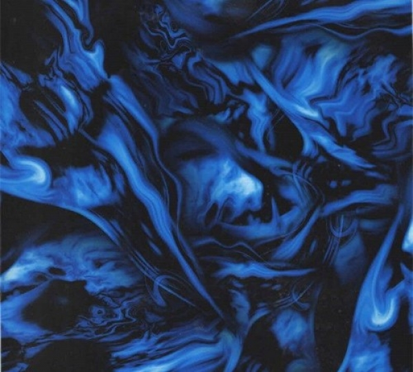 Water transfer printing starter kit Flames Ghost Blue included 2x1 metre Foil