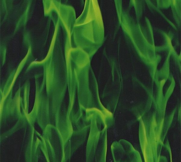 Water transfer printing starter kit FIRE FLAMES GREEN included 2x1 metre Foil