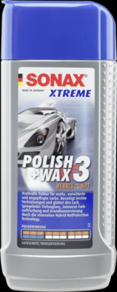 SONAX XTREME Polish & Wax 3 Hybrid NPT 250ml